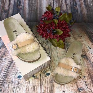 Birkenstock Carmen by Papillo shearling sandals